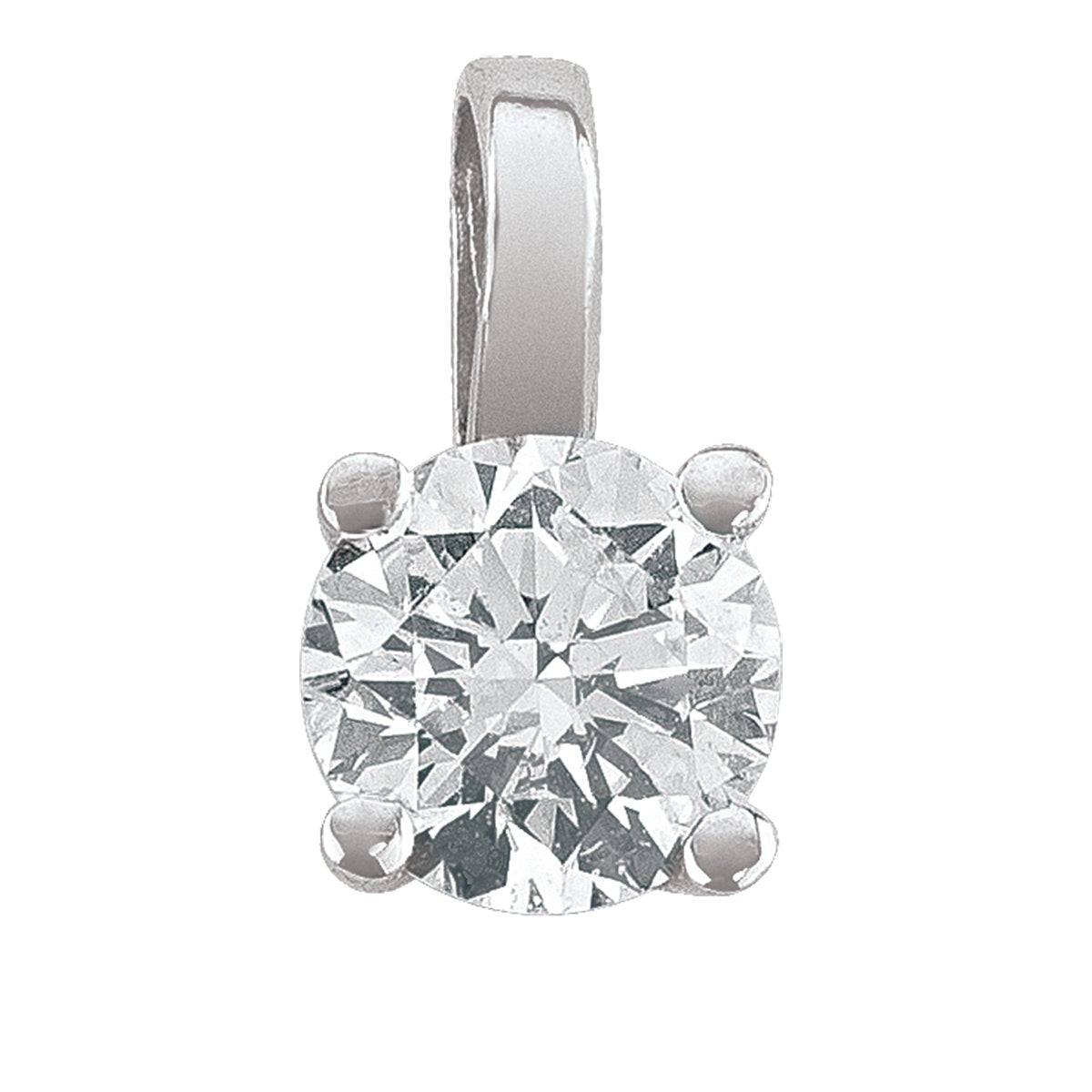 DIAMOND 4-CLAW SOLITAIRE PENDANTS (AVAILABLE IN VARIOUS STONE SIZE).