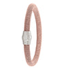 STERLING SILVER PINK GOLD PLATED MAGNETIC CLASP BANGLE