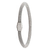 STERLING SILVER RHODIUM PLATED MAGNETIC CLASP BANGLE
