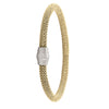 STERLING SILVER YELLOW GOLD PLATED MAGNETIC CLASP BANGLE