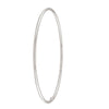 STERLING SILVER PLAIN TUBE SLIP ON BANGLE