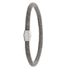STERLING SILVER BLACK RHODIUM MAGNETIC CLASP BANGLE
