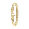 STERLING SILVER YELLOW GOLD PLATED FANCY BANGLE