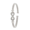 STERLING SILVER  RHODIUM PLATED C.Z INFINITY BANGLE