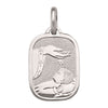 WHITE GOLD SOLID BAPTISM MEDAL