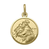 YELLOW GOLD SOLID ST. ANTHONY MEDAL