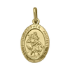 YELLOW GOLD SOLID ST. CHRISTOPHER MEDAL