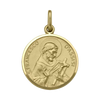 YELLOW GOLD SOLID ST. FRANCIS MEDAL