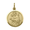YELLOW GOLD SOLID ST. JOSEPH MEDAL
