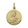 YELLOW GOLD SOLID ST. TERESA MEDAL