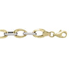 TWO TONE GOLD HOLLOW FANCY BRACELET