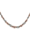 PINK AND WHITE GOLD FANCY HOLLOW NECKLACE