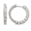 WHITE GOLD DIAMOND ROUND HUGGIE EARRING