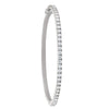 1 ROW HINGED DIAMOND WHITE GOLD BANGLE