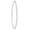 1 ROW SLIP ON FULL ETERNITY DIAMOND WHITE GOLD BANGLE