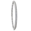 3 ROW HINGED DIAMOND WHITE GOLD BANGLE