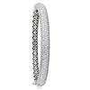 7 ROW HINGED DIAMOND WHITE GOLD BANGLE