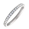 WHITE GOLD DIAMOND PAVE HALF ETERNITY BAND  (AVAILABE IN VARIOUS STONE AND RING SIZE).