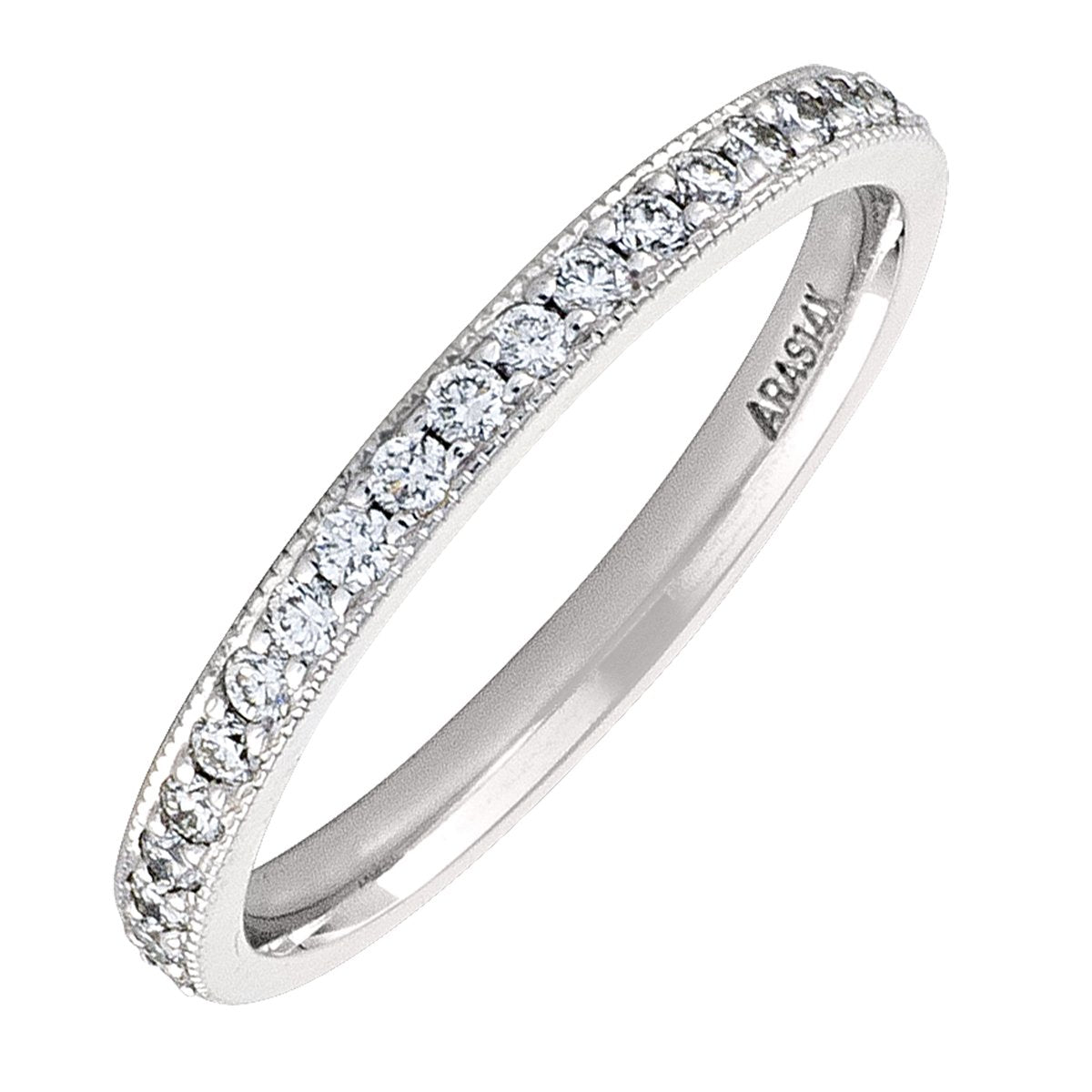 WHITE GOLD DIAMOND PAVE FULL ETERNITY BAND  (AVAILABE IN VARIOUS STONE AND RING SIZE).