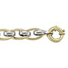 TWO TONE GOLD HOLLOW FANCY LINK  BRACELET