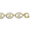 YELLOW GOLD HOLLOW FANCY LINK BRACELET
