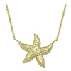 YELLOW GOLD STAR FISH NECKLACE