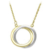 TWO TONE GOLD LOVE KNOT NECKLACE