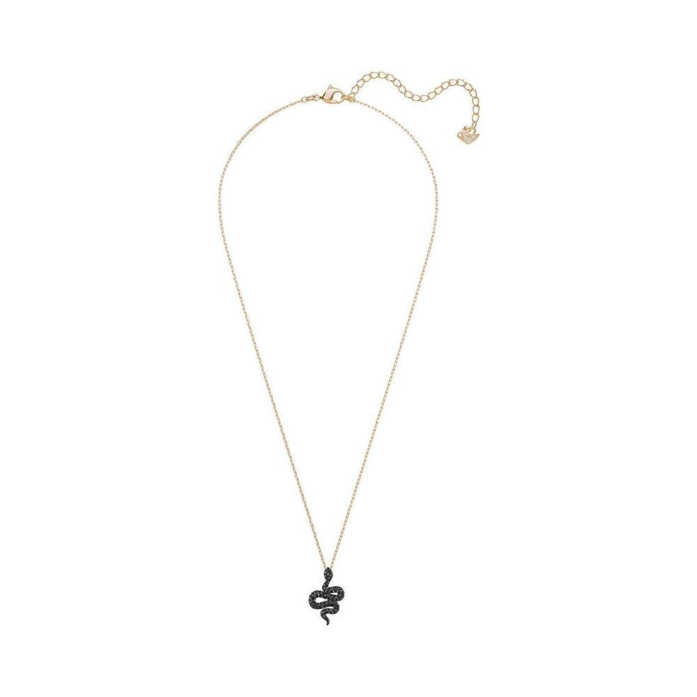 SWAROVSKI LESLIE PENDANT, SMALL, BLACK, ROSE GOLD PLATING