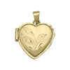 YELLOW GOLD HEART SHAPED LOCKET