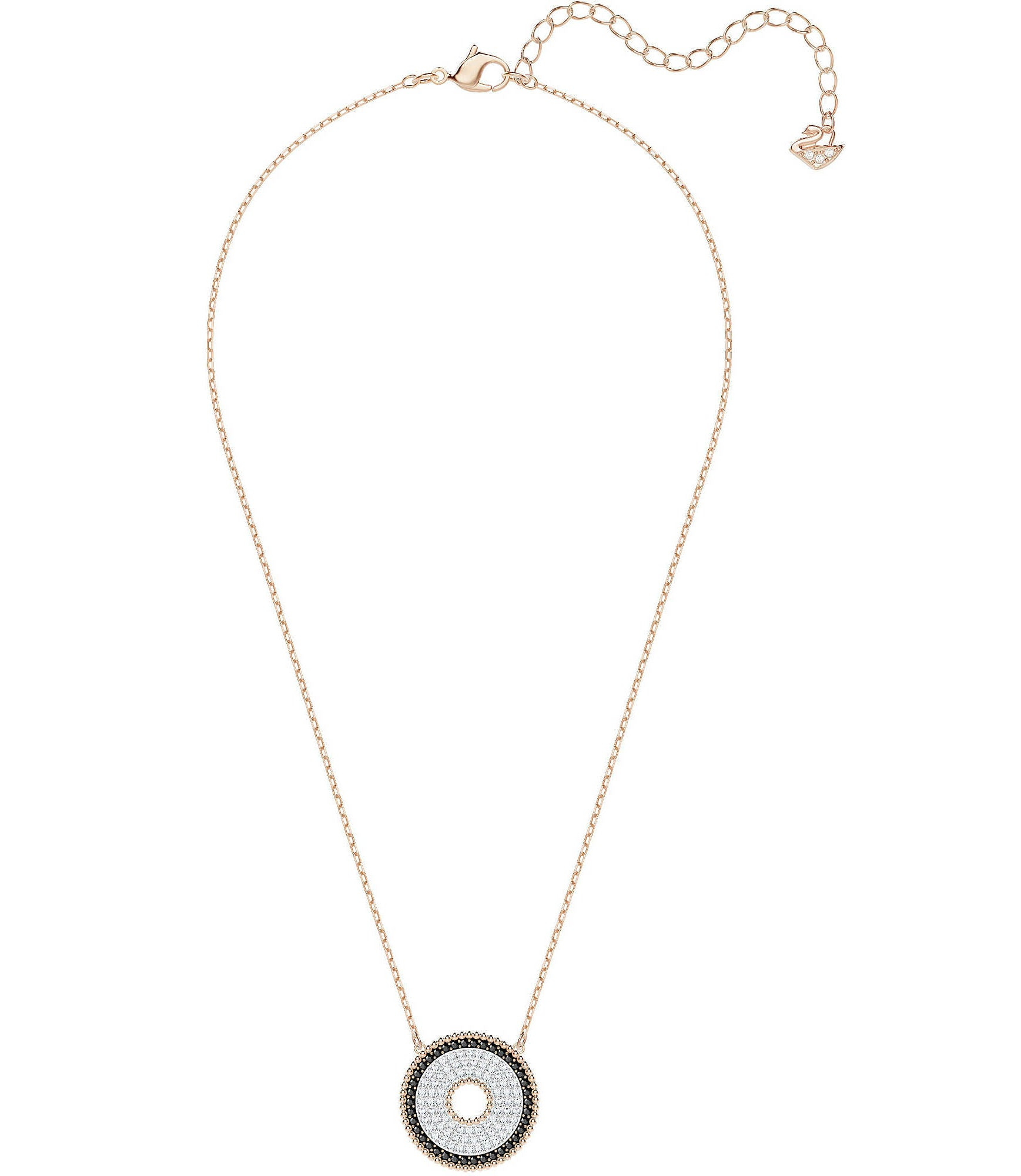 SWAROVSKI LOLLYPOP NECKLACE, BLACK, ROSE GOLD PLATING