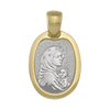 TWO TONE GOLD SOLID MADONNA MEDAL