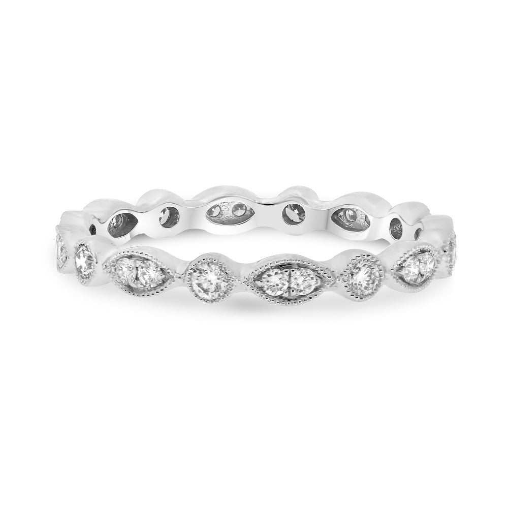 Marquise & Dot Diamond Eternity Band