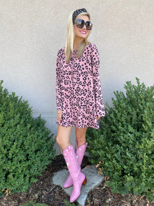 Pink Leopard Buddy Love Dress