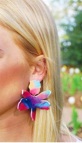 Multi Lily Earrings
