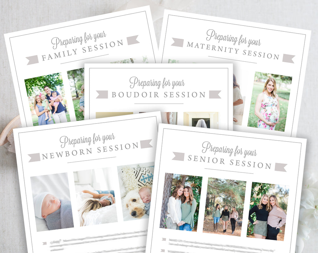 Photography Template Bundle, Prep Guide, Business Cards, Pricing ...