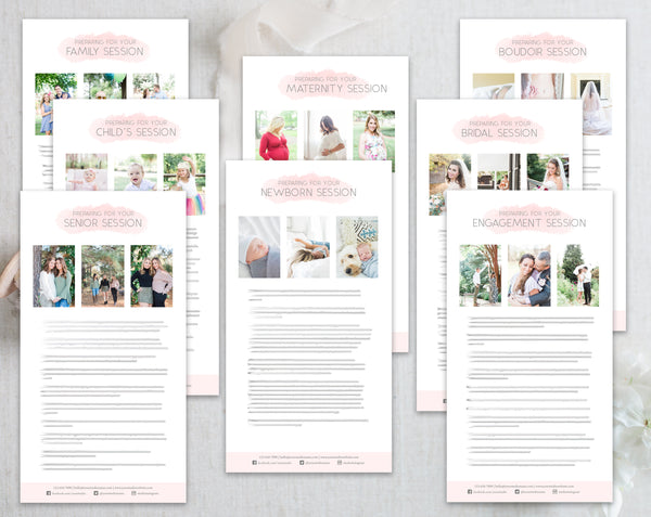 Photography Client Prep Guide Template Bundle - 8 Pack