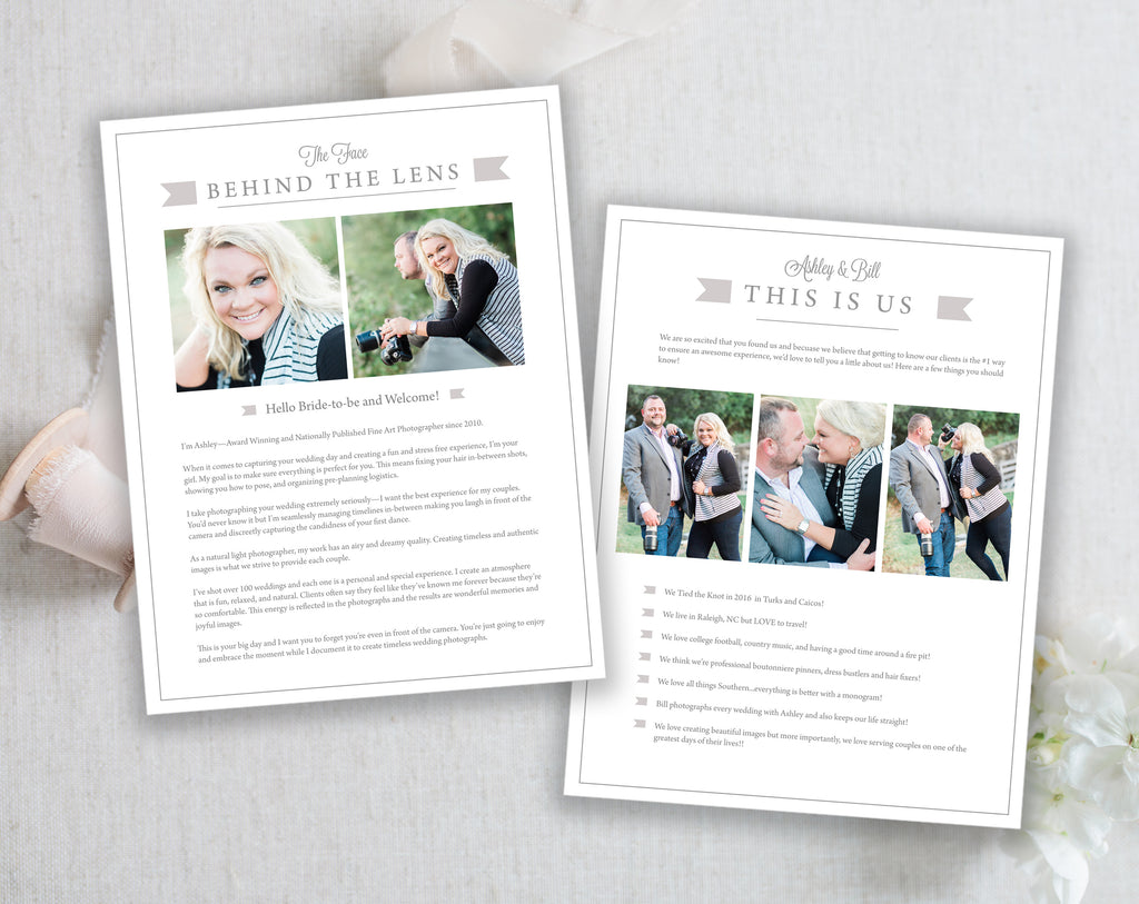 photography template bundle prep guide business cards pricing
