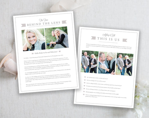 About Us- Resume Bio Template, Two page Customizable Template