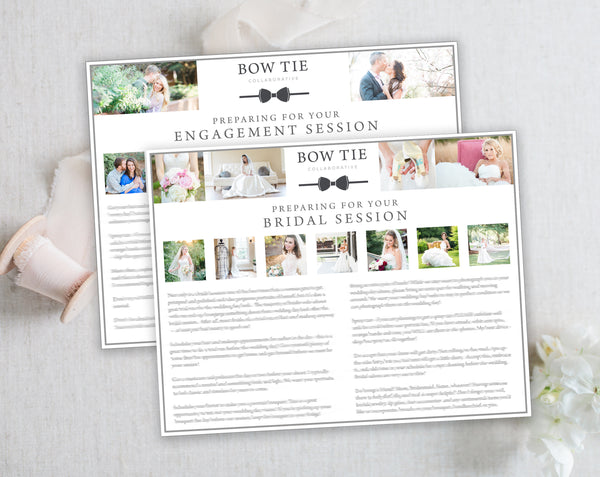 Bridal & Engagement Client Prep Guide Templates - Horizontal