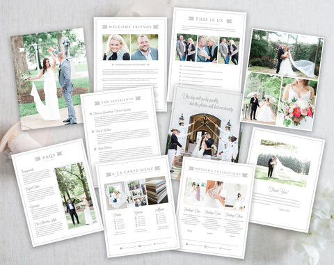 Wedding Welcome Magazine Template for Photographers