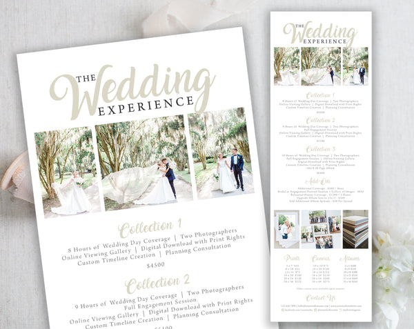 The Wedding Experience Collections + A La Carte Menu - The Charleston Collection