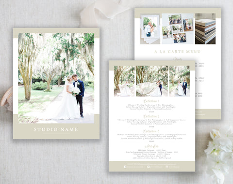 3 Page Wedding Collection Templates - The Charleston Collection