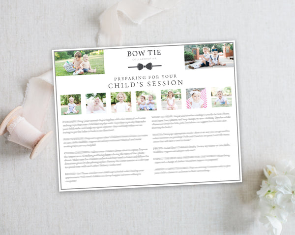 Child's Client Prep Guide Template - Horizontal