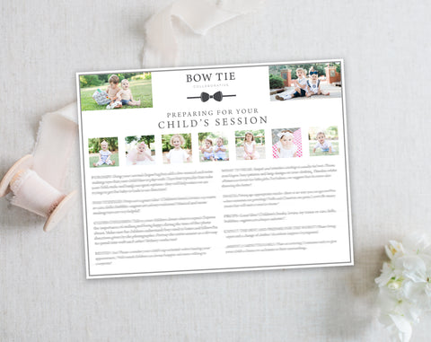 Child's Prep Guide Template