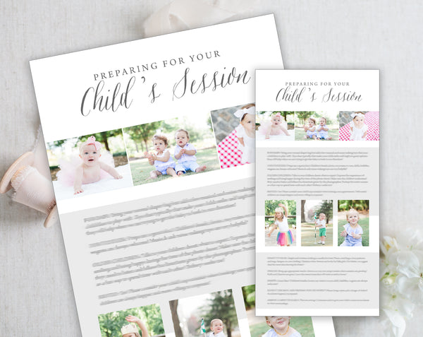 Child's Session Prep Guide Template