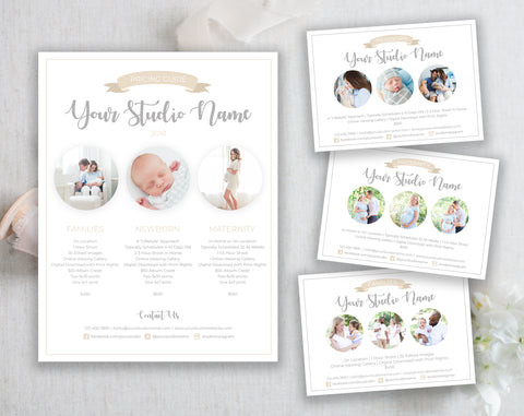 Maternity, Newborn & Family Marketing Templates Bundle
