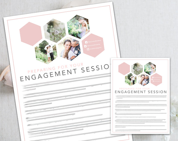 Engagement Client Prep Guide Template - Pink Hexagon