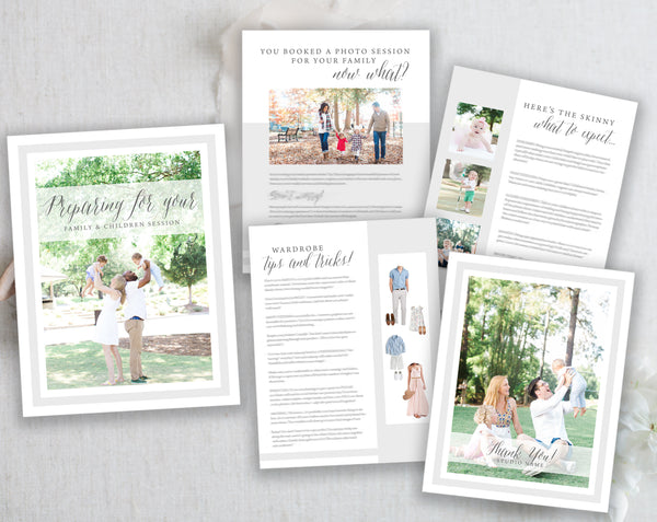 Family and Children Session Prep Guide Template. Instant Download. Family and Child Photography