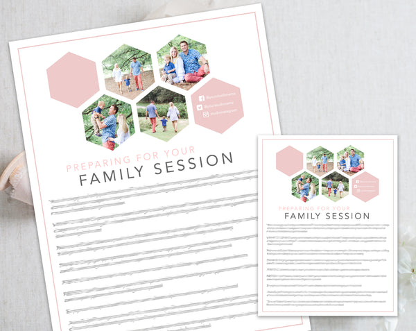 Family Prep Guide - Hexagon Design