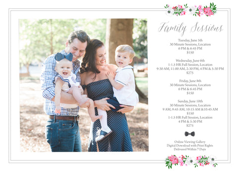 Family Session Marketing Template